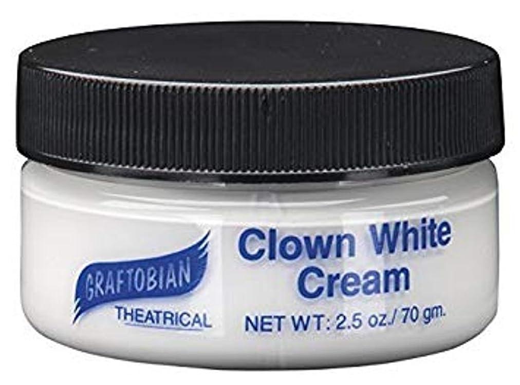 に向かって代わって備品Clown White Creme Foundation (2.5 oz.) ピエロホワイトクリームファンデーション(2.5オンス)?ハロウィン?クリスマス?2.5 oz.