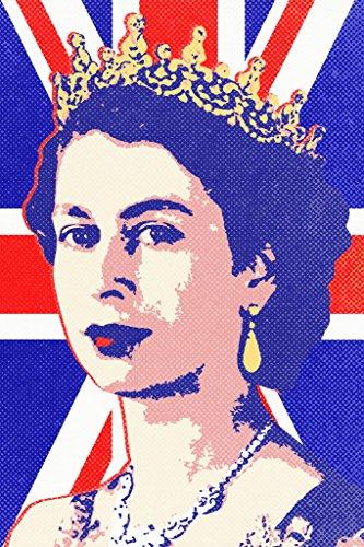 Queen Elizabeth II Union Jack Pop Cool Wall Decor Art Print Poster 12x18
