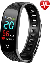 Busezy Fitness Tracker with Sleep Monitor, Heart Rate Monitor, Step Counter, Calorie Counter, Waterproof Smart Fitness Tracker for Kids, Women and Men.