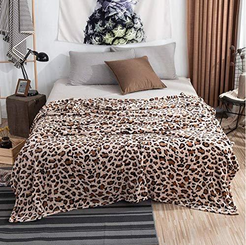 FEJK Mantas de Leopardo Cebra Animal Sherpa Manta de Franela de Invierno para Cama Doble Colcha Suave y cálida Manta de Viaje 200 * 230 cm