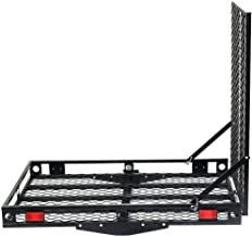 Goplus Wheelchair Carrier Mobility Scooter Loading Ramp Heavy Duty Strong Hitch Cargo, 500 Lbs Capacity (Unfoldable)