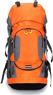 WOYAOFA Outdoor Fitness Bag Mountaineering Travel Bag Non-Slip Breathable Waterproof Large Capacity Breathable Perspiration (Color : Orange)