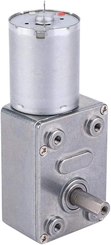 LANTRO JS - Motor de engranaje helicoidal de CC, motor eléctrico reductor de CC de 24 V 5-150 RPM con motorreductor de reducción de velocidad de alta torsión invertida con autobloqueo(150RPM)