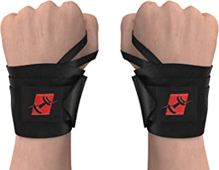 """ProFitness 18"""" Weight Lifting Wrist Wraps W/Thumb Loop Hole for Men & Women 