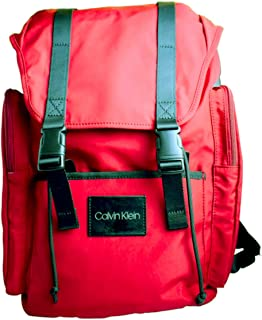 Calvin Klein (Ck) Hiking and Travelling Flap Backpack - Red
