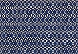 Dekostoff Vorhangstoff Jacquard Geometrie Muster blau
