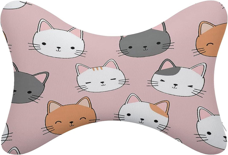 Cute Cat Car Neck Pillow 2 Pcs Nashville-Davidson Mall He Soft Regular dealer Comfortable Universal