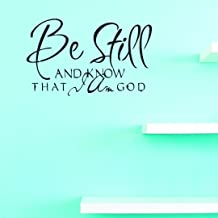 Design with Vinyl JER 832 2 Be Still and Know That I am God Vinyl Wall Decal, 14
