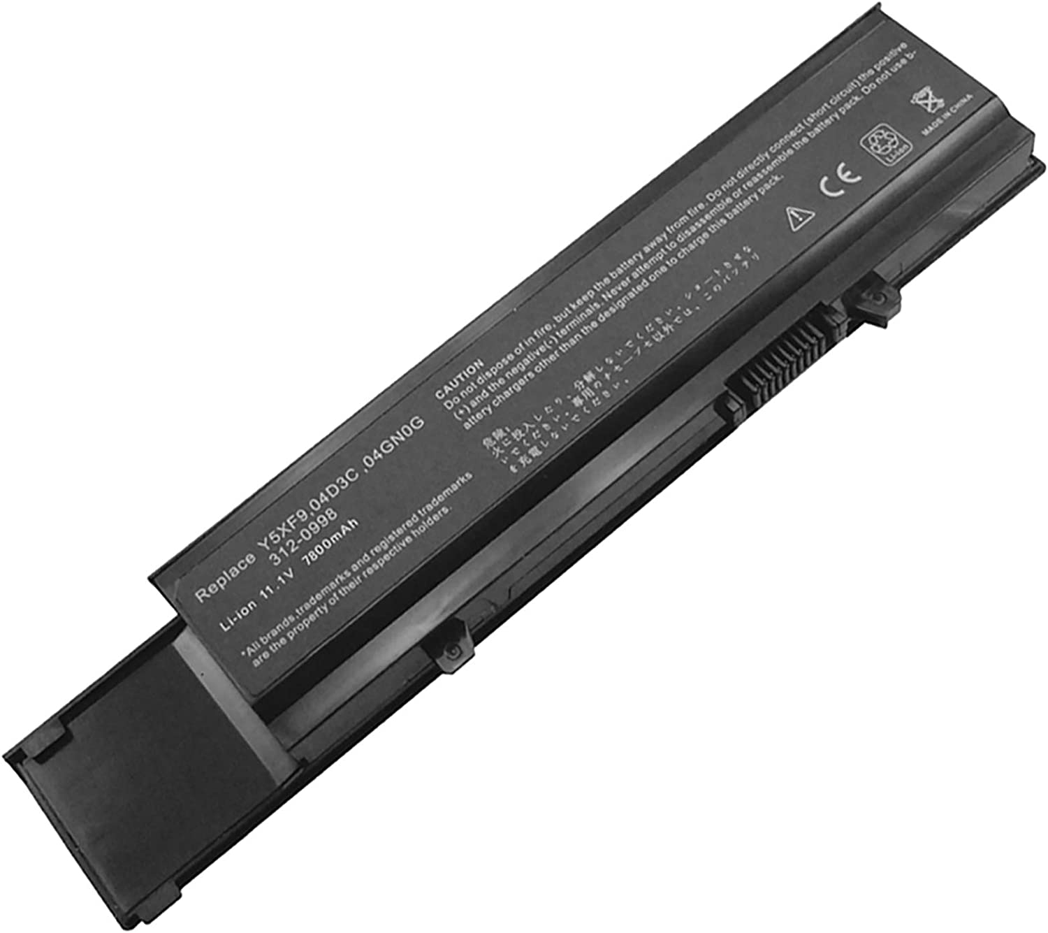 Bay Valley Parts 9-Cell 11.1V 7800mAh New Replacement Laptop Battery for Dell Vostro 3400,Vostro 3500,Vostro 3700