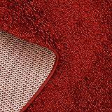 Taracarpet Hochflor Langflor Shaggy Teppich geeignet für Wohnzimmer Kinderzimmer und Schlafzimmer flauschig und pflegeleicht schwarz 080×150 cm - 6