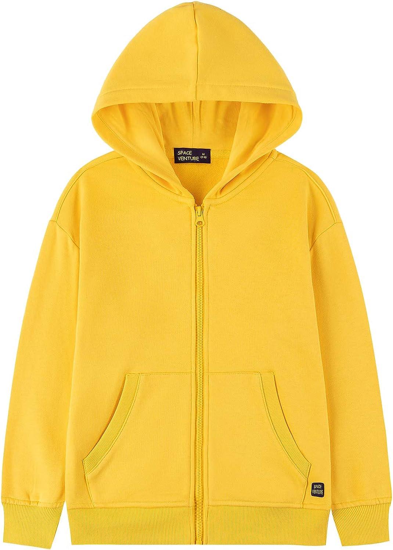 SPACE VENTURE Kids Sweatshirt Soft Brushed Inside Fleece Full Zip Up Hoodie for Boys or Girls (3-12Y)