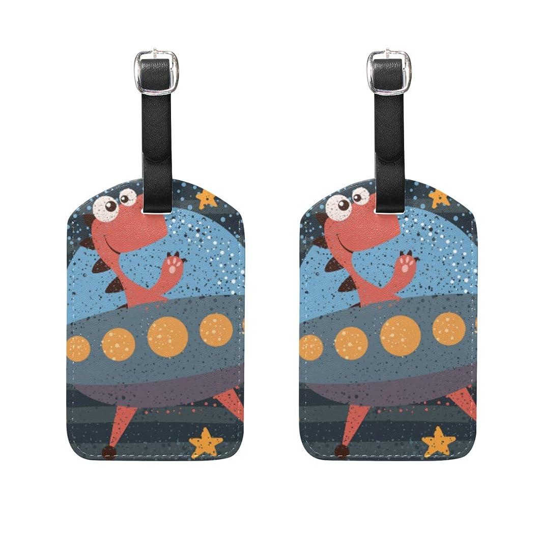 フェード始める満州バッグ用ネームタグ ネームタグ 可愛い 恐竜 荷物タグ ラゲージタグ かわいい おしゃれ 旅行用 スーツケースタグ PUレザー 2枚入 個性