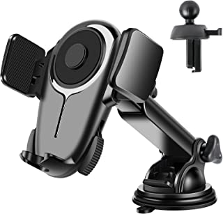 Tsryrlr Cell Phone Holder For Car[Ultra-Stable]Universal Car Phone Mount For Dashboard Windshield Vent,360 ° Rotatable Lon...