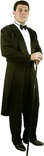 Adults Large 43-44 Mens Formal Tuxedo Magician Butler Jacket Pants Costume Black