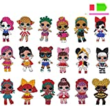 5D DIY Girls Diamond Painting Stickers Kit para niños 18 piezas LOL Diamond Painting Mosaic Sticker Kits de arte por números para niños principiantes - Muñeca