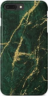 Gold Green Natural Marble Black Case Compatible iPhone 8 Plus/7 Plus 6s Plus/6 Plus Cute Case Soft TPU Silicone Shockproof Cover Compatible iPhone 8 Plus/7 Plus/6S Plus/6 Plus(5.5