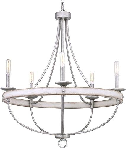 lowest Gulliver Collection 5-Light popular Coastal Chandelier lowest Light Galvanized outlet online sale