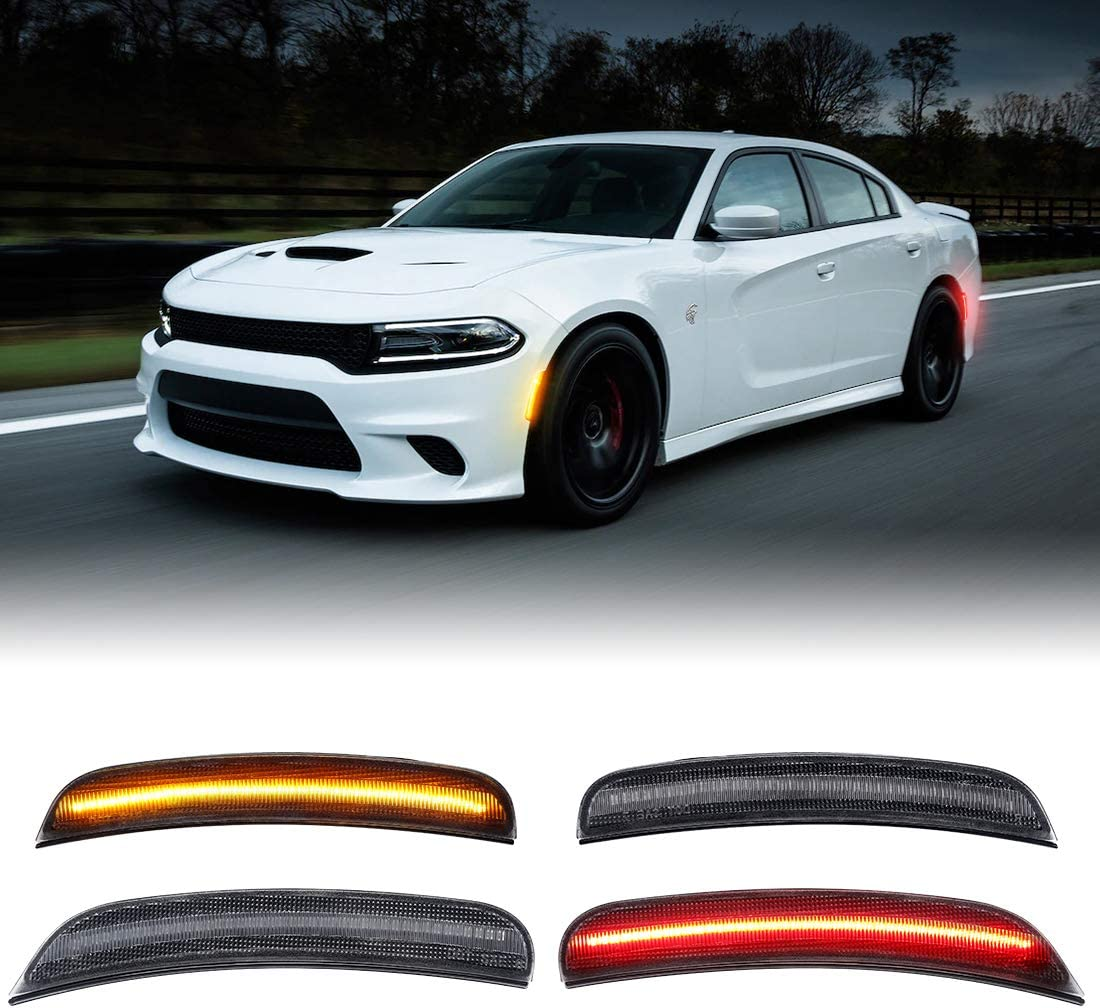 Smoked LED Side Marker Lamp Kits for San Antonio Mall Challenge the lowest price of Japan ☆ Charger Dodge 2015 2016 201