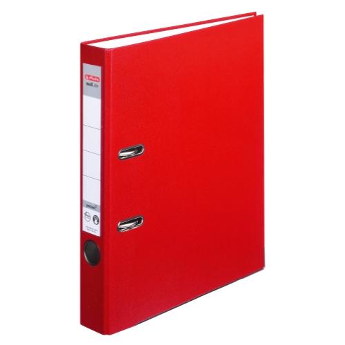 Herlitz 9942582 Ordner maX.file protect A4 5cm rot, PP-Kunststoffbezug/Papier hellgr. besch. 5er Packung