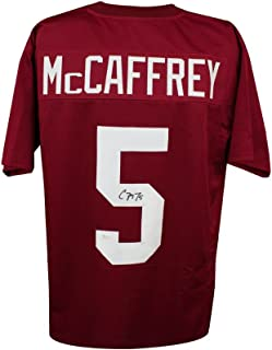 Christian McCaffrey Autographed Stanford Custom Maroon Football Jersey - JSA COA