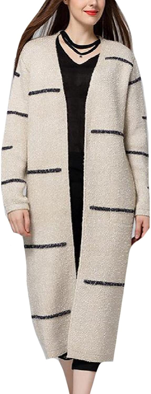 CoolredWomen Fashion Maxi Casual Wool Blend Warm Trench Coat Cardigan