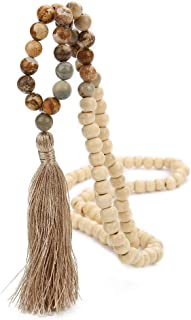 long beaded necklace for men