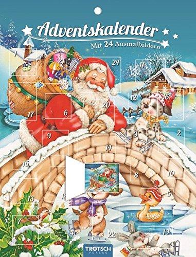 Trötsch Adventskalender mit 24 Ausmalbildern: Ausmal-Adventskalender