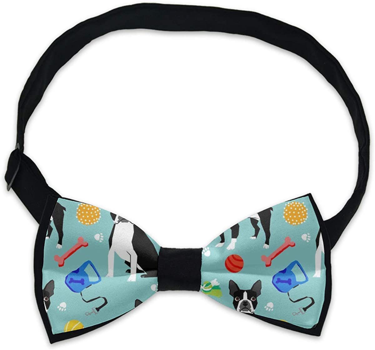 Cute Pre-tied Bow Tie Adjustable Bowties for Adult & Children Boston Terrier Toys Dog