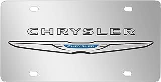 Chrysler 3D Logo Mirror Chrome Stainless Steel License Plate