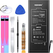 NOHON 1560mAh Battery Replacement Compatible for iPhone 5S & 5C, 0 Cycle Li-ion Battery with Complete Repair Tool Kitand Instructions - Included 24 Months Warranty