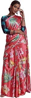 بلوزة ساري عصرية عصرية هندية من نسيج الستان الفاخر من تصميم بيتش مطبوعة بألوان مختلفة من طراز بوليوود 6078