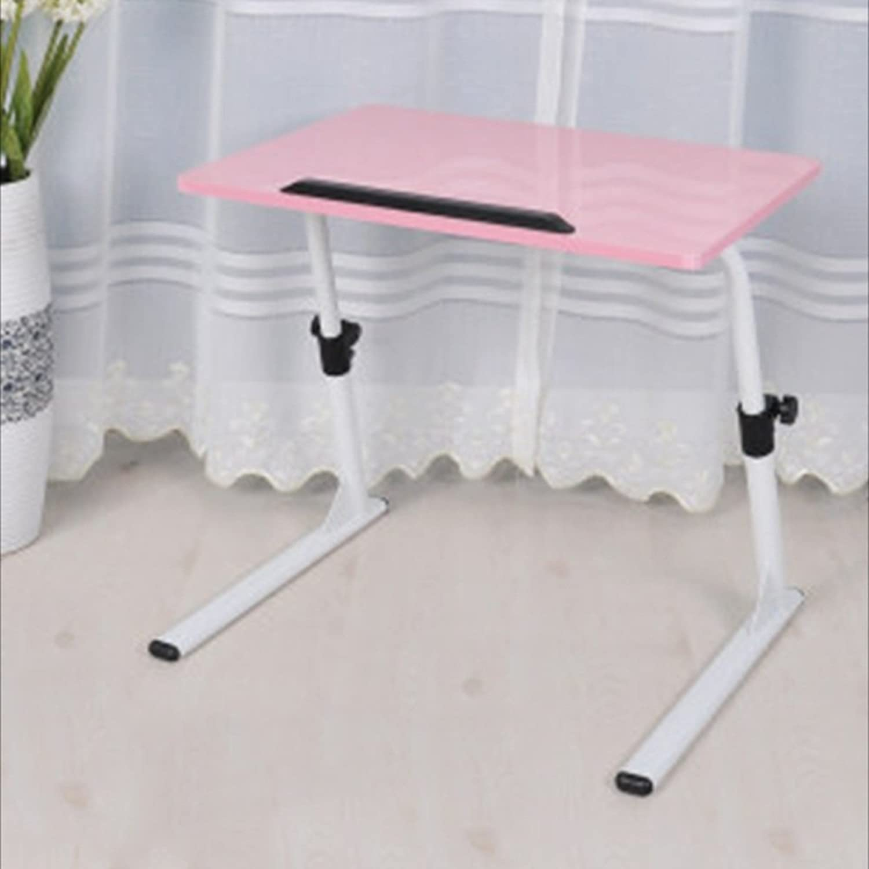 NAN MDF Height Adjustable Laptop Tables Bed Sofa Side Learning Desk Folding Tables (color   3)