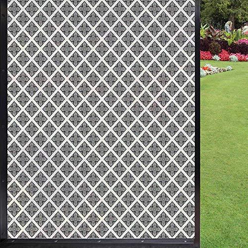 Película abstracta para ventana de privacidad, película de privacidad extraíble, gris oscuro, perla 60 x 90 cm