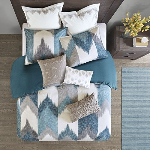 Ink+Ivy Alpine Cotton Duvet Cover Mini Set Aqua King/Cal King
