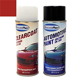 ExpressPaint Aerosol - Automotive Touch-up Paint for Hyundai Tiburon - Rally Red Clearcoat VX - Color + Clearcoat Package