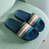 LIUCHANG Sandalias de Punta Abierta de los Hombres, Antideslizantes par de Zapatos, Sandalias de baño Cuarto de baño-42-43_Dark con Suela Gruesa Azul, Sandalias de Punta Abierta liuchang20