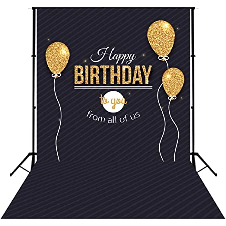 Happy Birthday Photography Backdrop Golden Balloons Photo Background Studio Props Birthday Party Decorations Photo Booth GY-1014