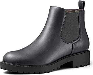 Women's Low Heel Round Toe Chelsea Ankle Boots