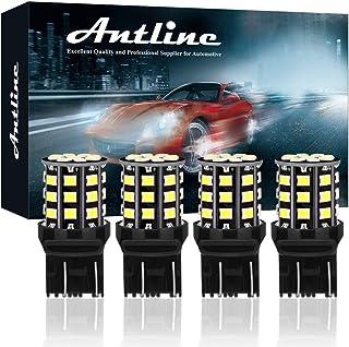 Antline 7443 7440 T20 992 7441 7444 W21W LED Bulbs White, 12-24V Super Bright 1000 Lumens Replacement for Backup Reverse L...