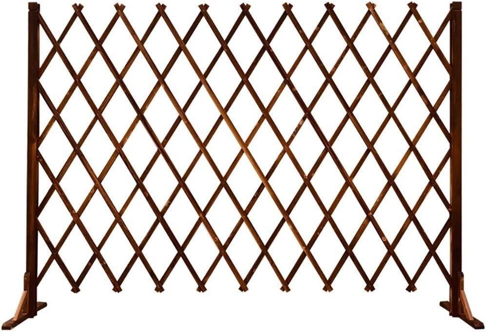 JHZWHJ Cheap mail order sales service Fence Wood Telescopic Guardrail Decoration Grid Garden De