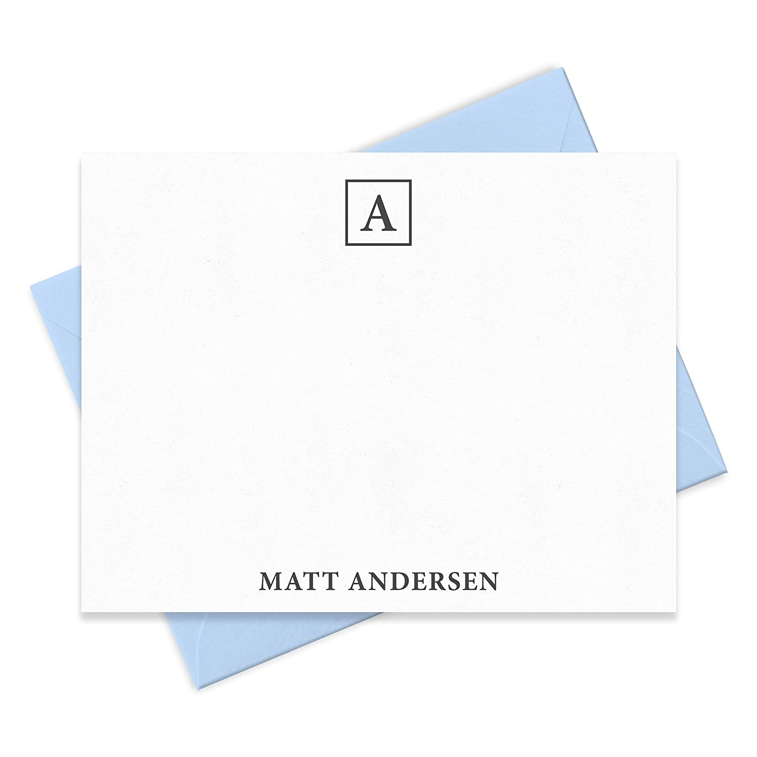 Monogrammed Note Card Price reduction Boxed Outlet ☆ Free Shipping Set Stationer Men - for Personalized