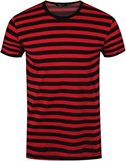 Men's Striped T-Shirt Black and Red