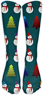 Christmas Snow Men Womens Casual Athletic Crew Sock Stocking High Compression Socks