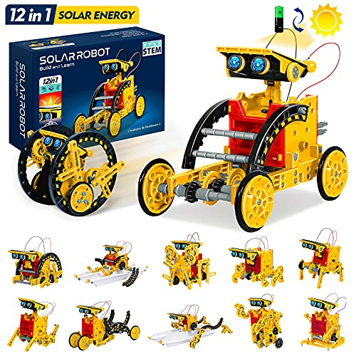 GALOPAR STEM Projects for Kids Ages 8-12, Solar Robot 12-in-1 Building Toys, Gifts for 8 9 10 11 12 Year Old Boys Girls, Education Science Robotics Kits Stem Toys, DIY Learning Science Boys Toys