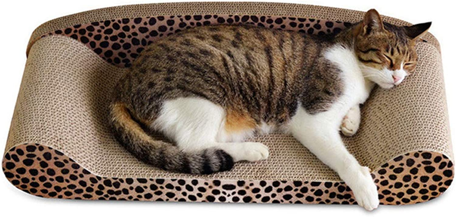 Cat Scratch Corrugated Sofa Lounge, Cat Scratch Posts with Backrest, Cats Scratch Board Best to Match Your Cat's Preference,A