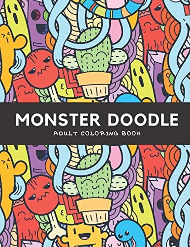 Monster Doodle Adult Coloring Book Hours Of Fun And Relaxation product image
