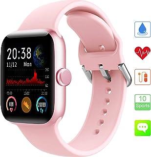 KUNGIX Reloj Inteligente, Smartwatch Impermeable IP68 con Monitoreo de Presión Arterial para Hombre Mujer, Pulsera de Actividad Inteligente con Reloj de Fitness con Podómetro para iOS y Android