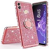 Miagon Bling Coque pour Huawei Honor 10 Lite,Brillant Paillette Strass 360 Degré Diamant Supporter...