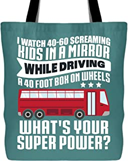 I Watch Kids In A Mirror Bags with Long & Durable Handles, I Am Driving Tote Bag for Shopping