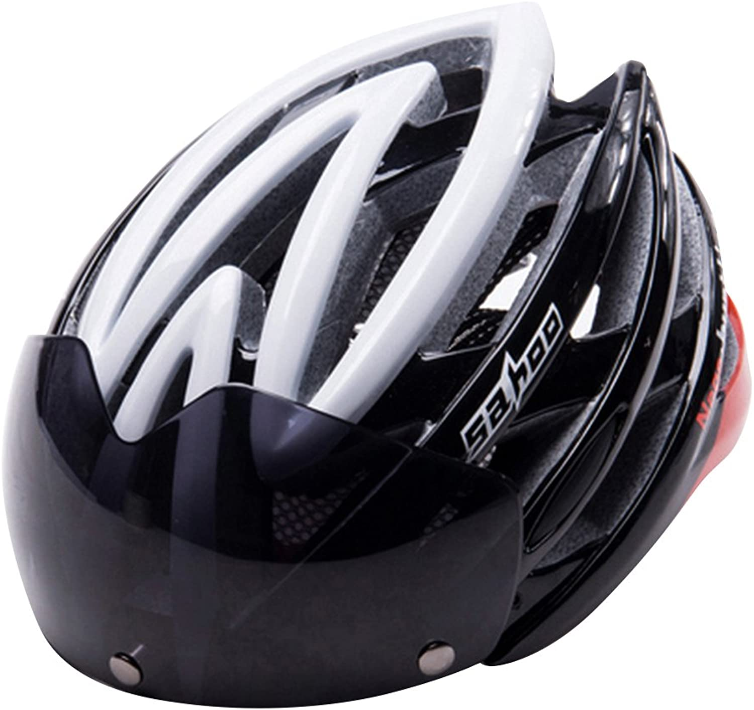 New Adult Street Bike Bicycle Cycling Safety Helmet with Lens Anti-Insect Net